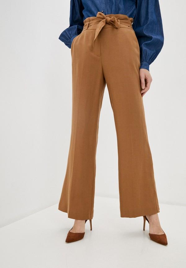 женские повседневные брюки naf naf, бежевые