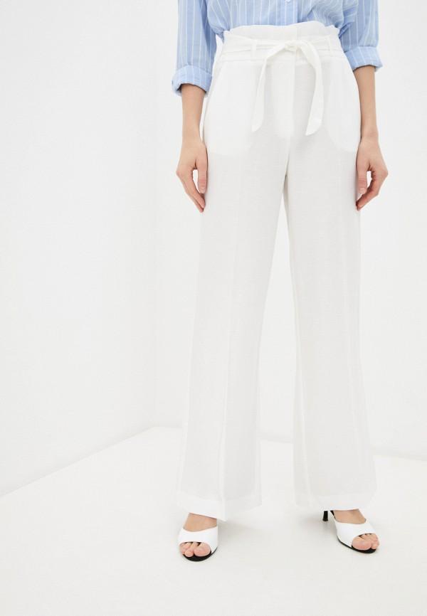 женские повседневные брюки naf naf, белые