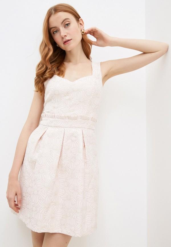 женское вечерние платье naf naf, розовое