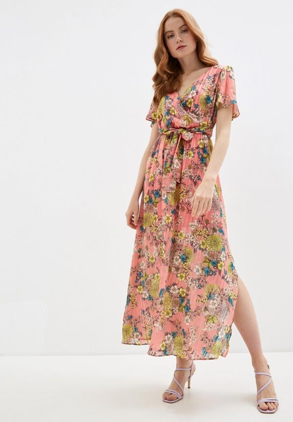 женское повседневные платье naf naf, розовое