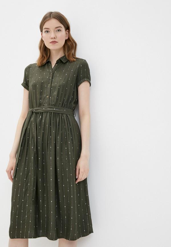 женское повседневные платье naf naf, хаки