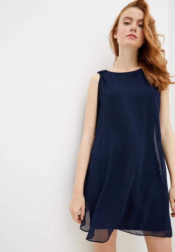 женское вечерние платье naf naf, синее