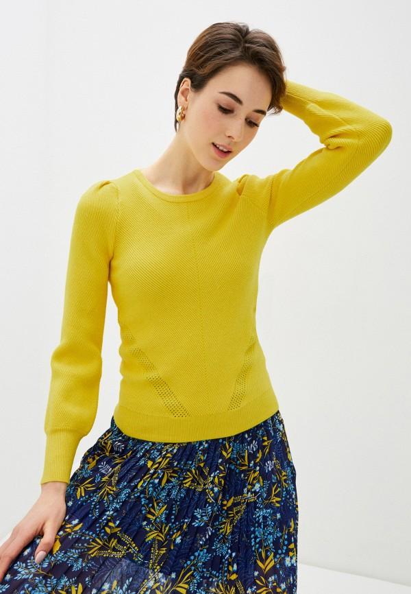 женский джемпер naf naf, желтый