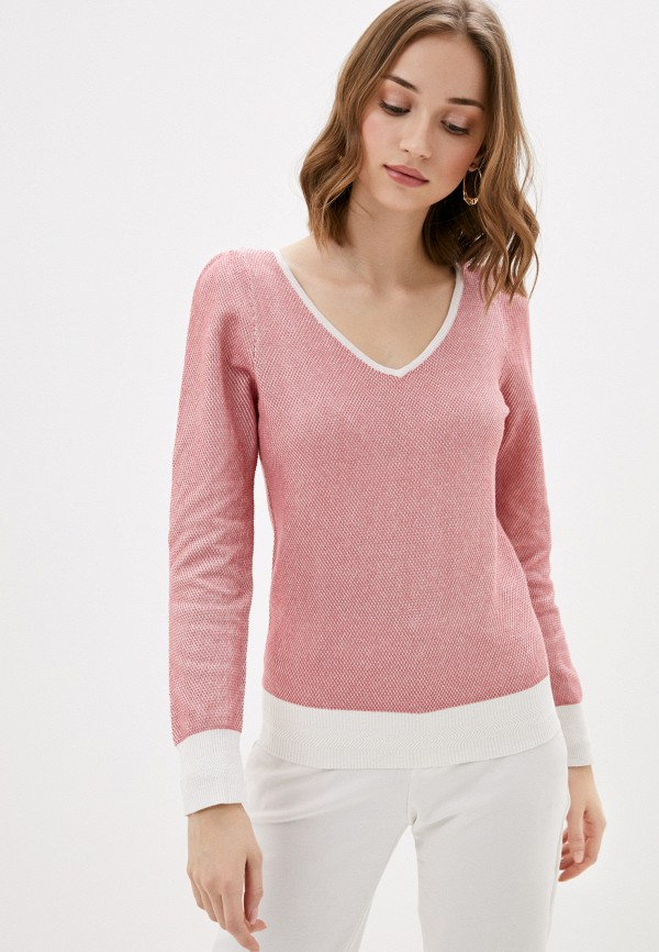 женский пуловер naf naf, красный