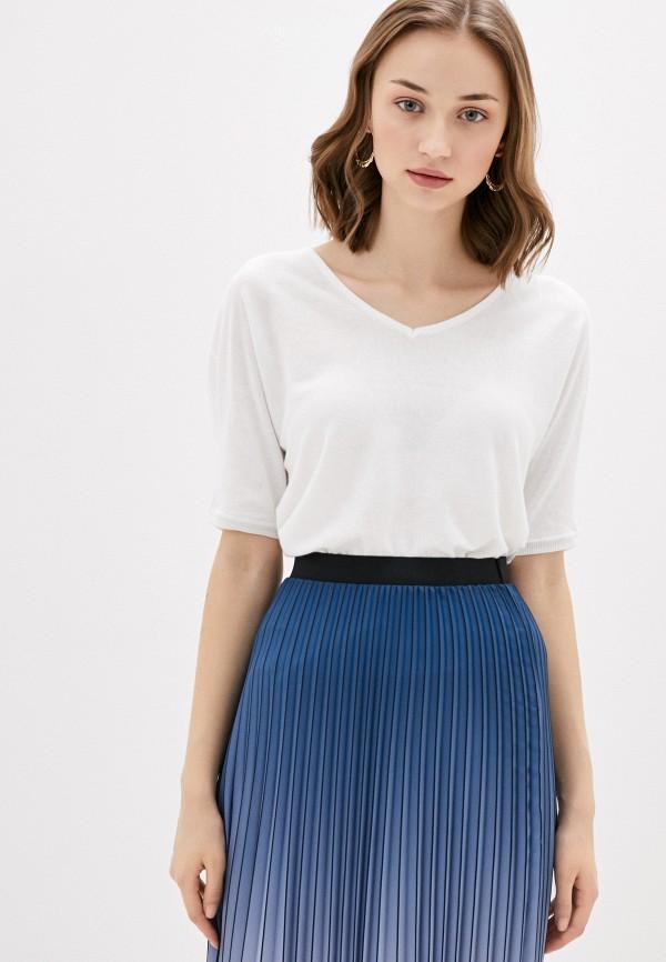 женский пуловер naf naf, белый