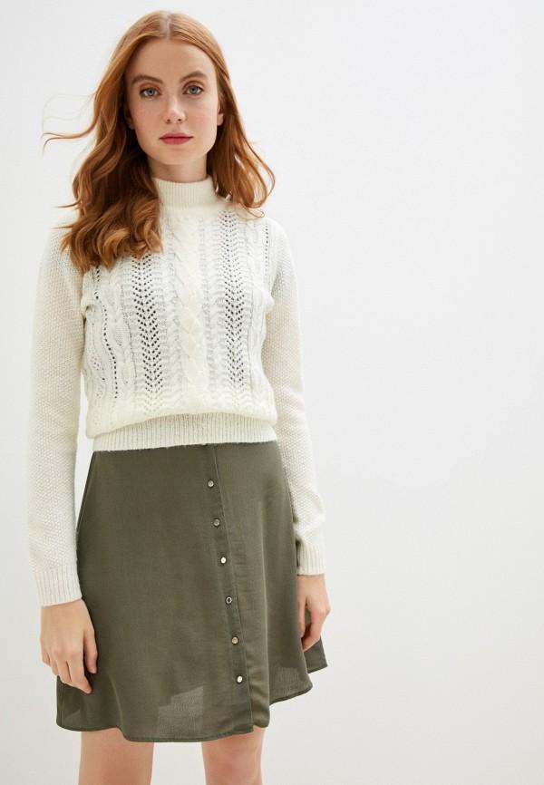 женский свитер naf naf, белый