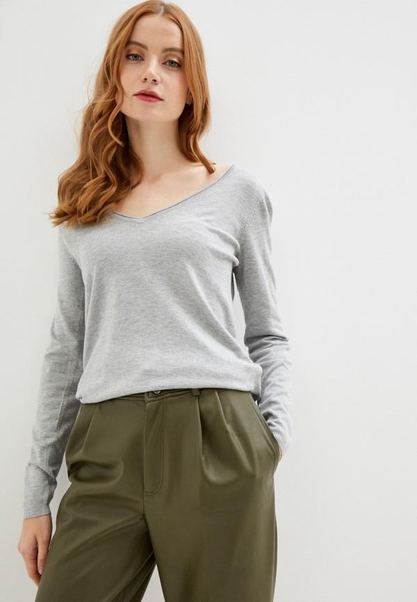 женский пуловер naf naf, серый