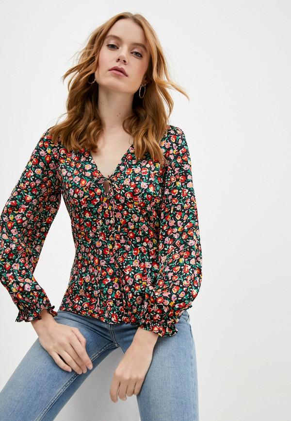 женская блузка naf naf, разноцветная