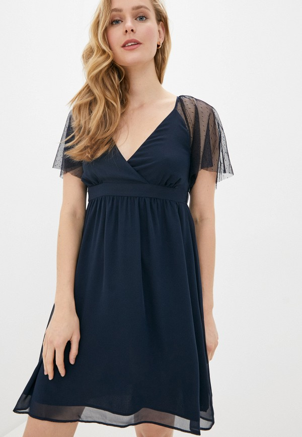 женское повседневные платье naf naf, синее