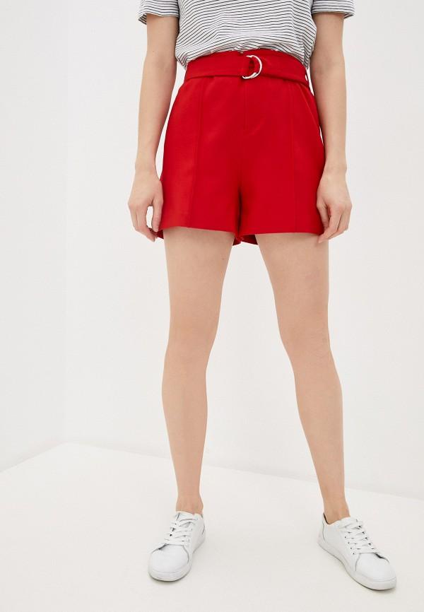 женские повседневные шорты naf naf, красные