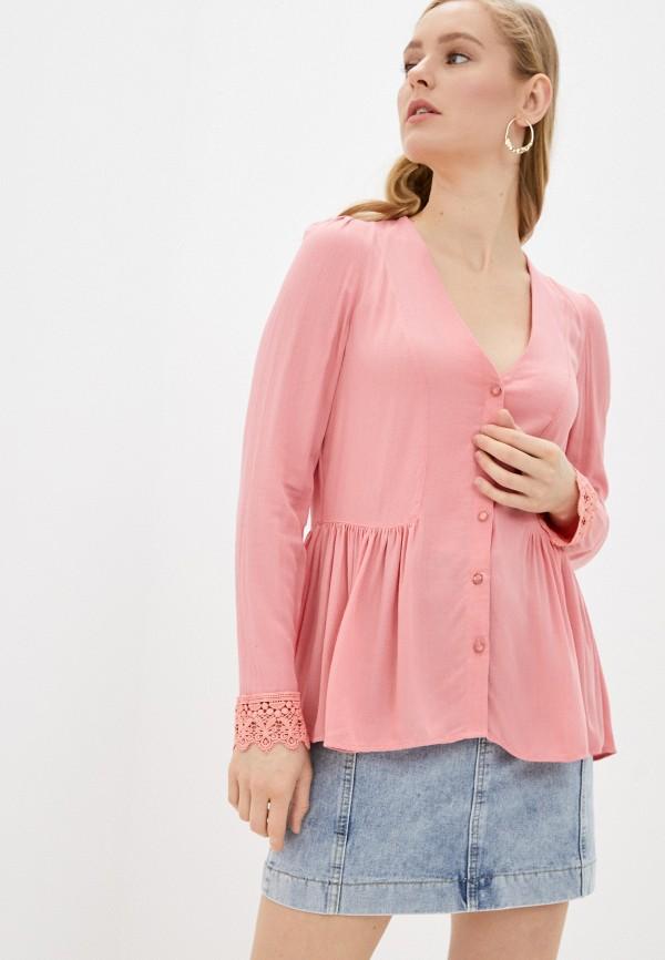 женская блузка naf naf, розовая