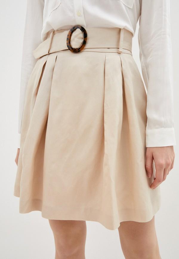 женская юбка naf naf, бежевая