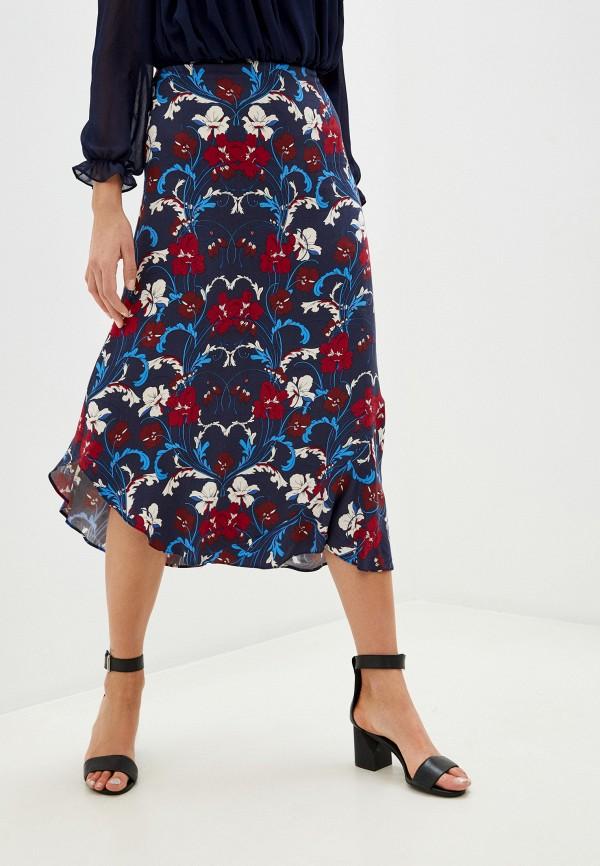 женская юбка naf naf, синяя
