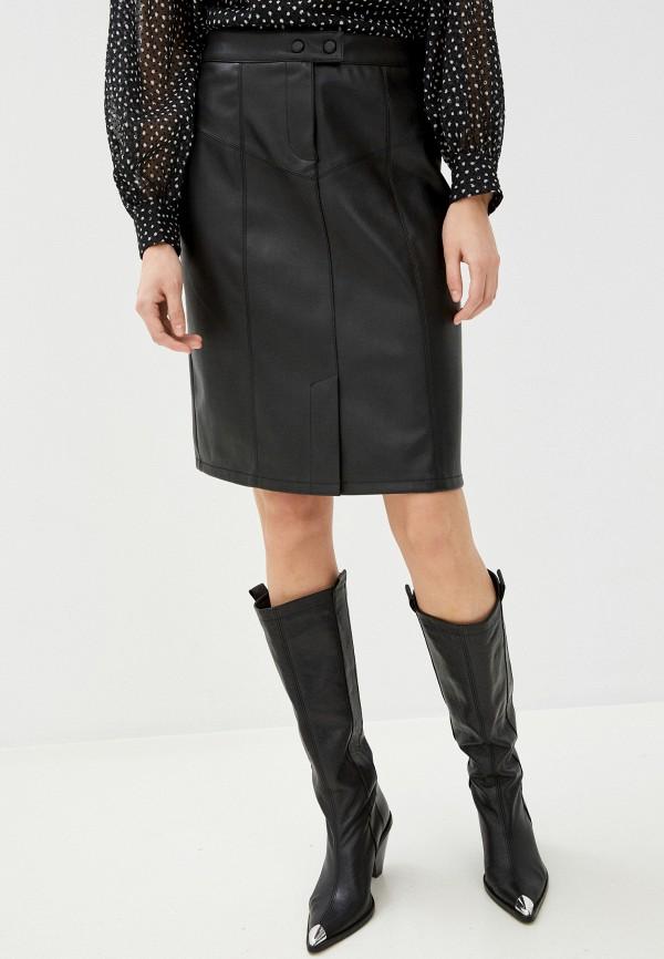 женская юбка naf naf, черная