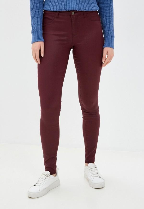 женские повседневные брюки naf naf, бордовые