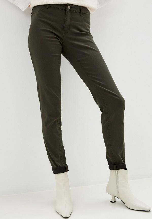 женские повседневные брюки naf naf, хаки