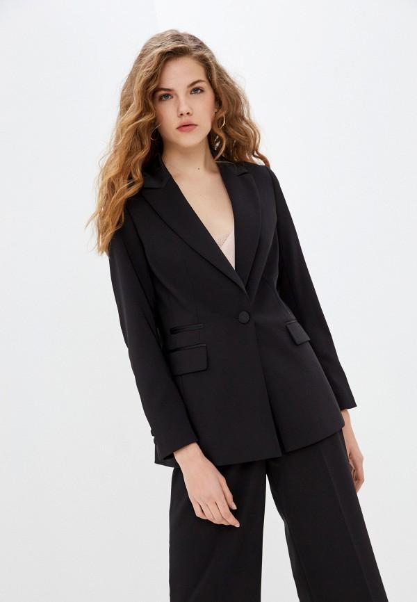 женский пиджак naf naf, черный