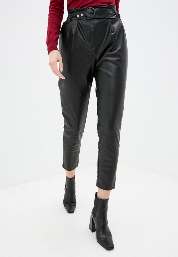 женские брюки naf naf, черные