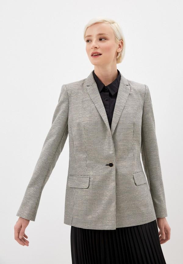 женский пиджак naf naf, серый