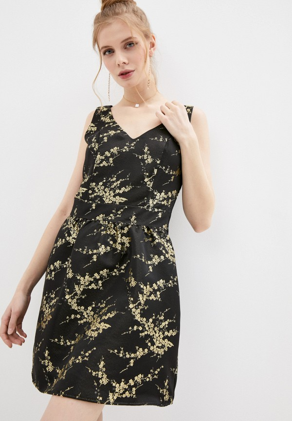 женское вечерние платье naf naf, черное