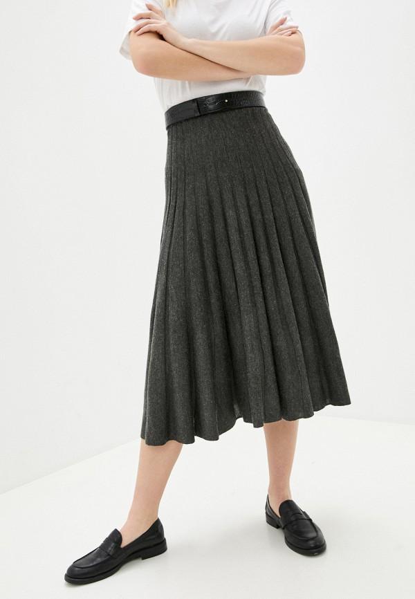 женская юбка naf naf, серая