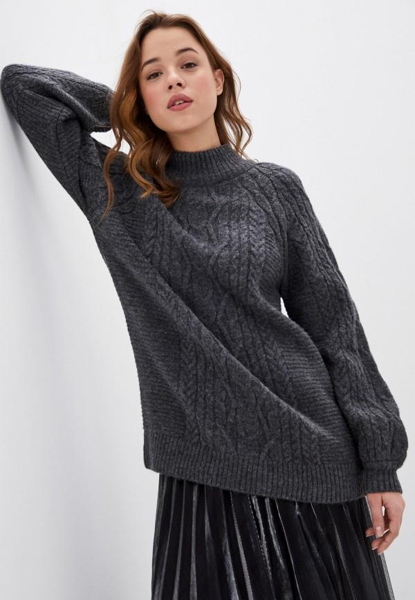 женский свитер naf naf, серый