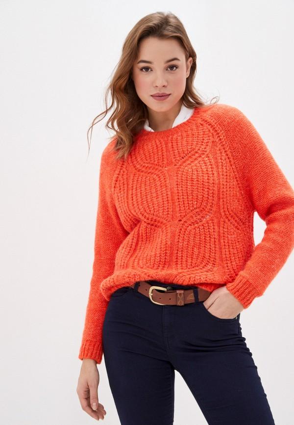 женский джемпер naf naf, оранжевый