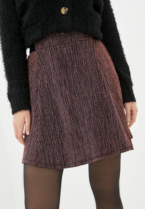женская юбка naf naf, бордовая