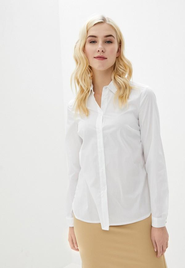 женская рубашка с длинным рукавом naf naf, белая