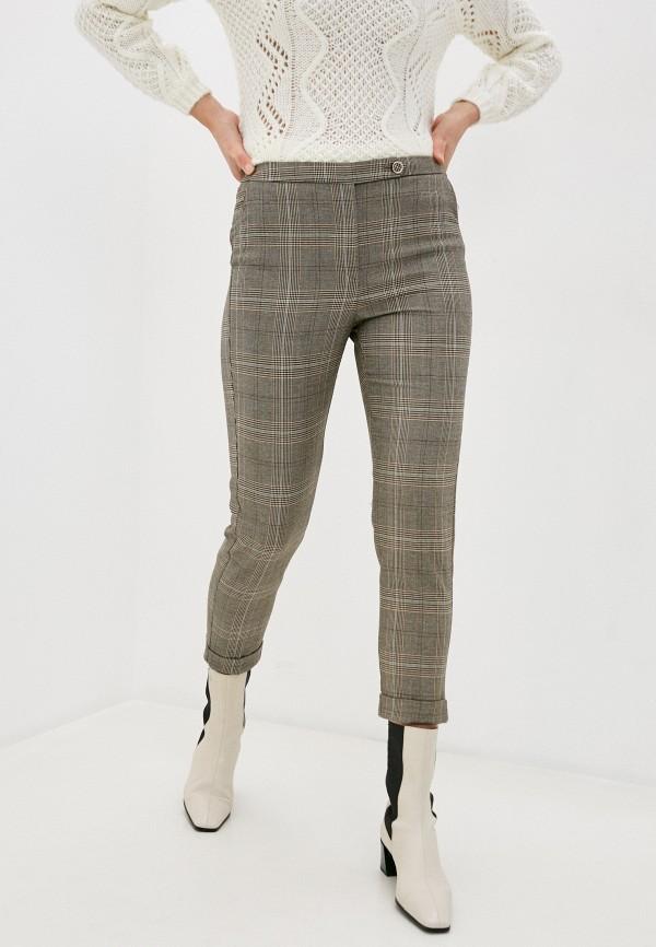 женские классические брюки naf naf, бежевые