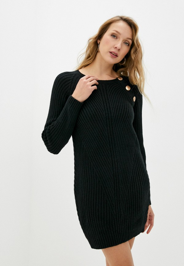 женское платье naf naf, черное