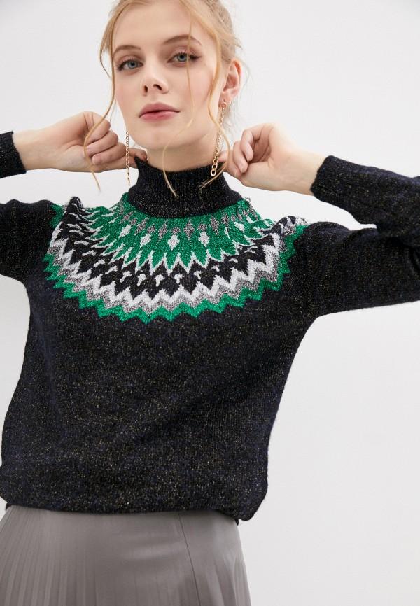 женский свитер naf naf, черный