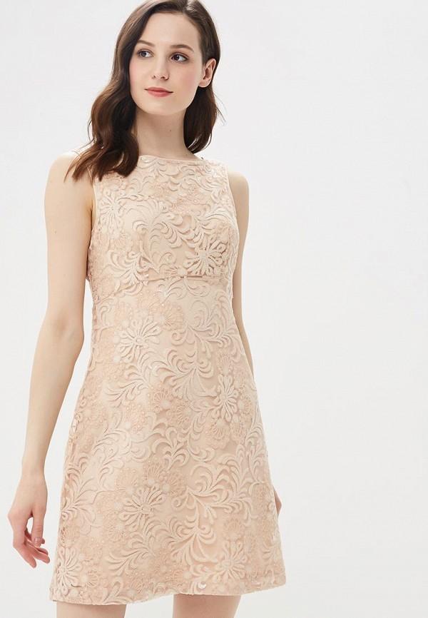 Купить Платье Naf Naf, NA018EWZJQ91, бежевый, Весна-лето 2018