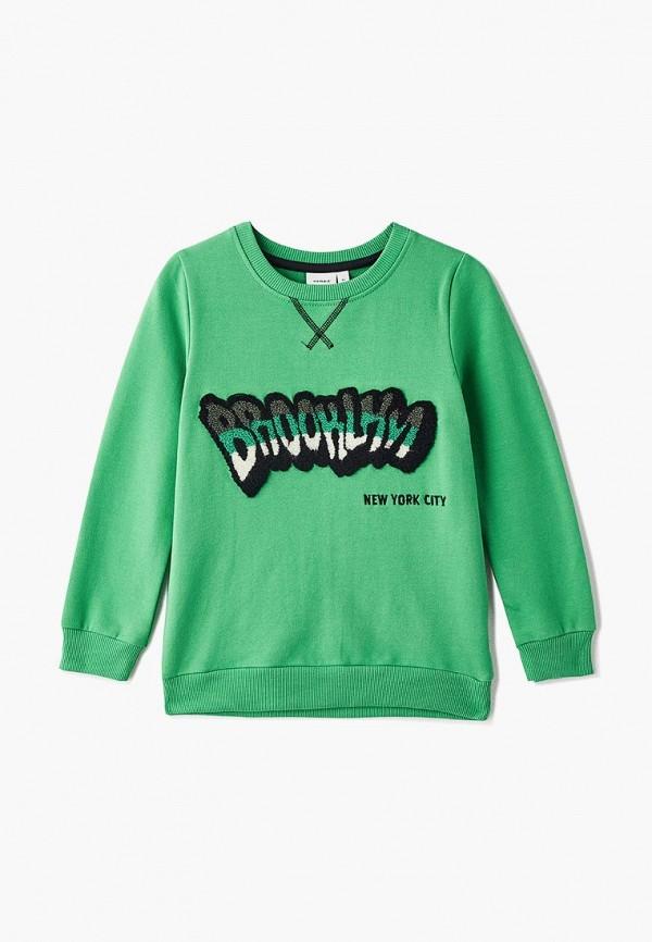свитшот name it для мальчика, зеленый