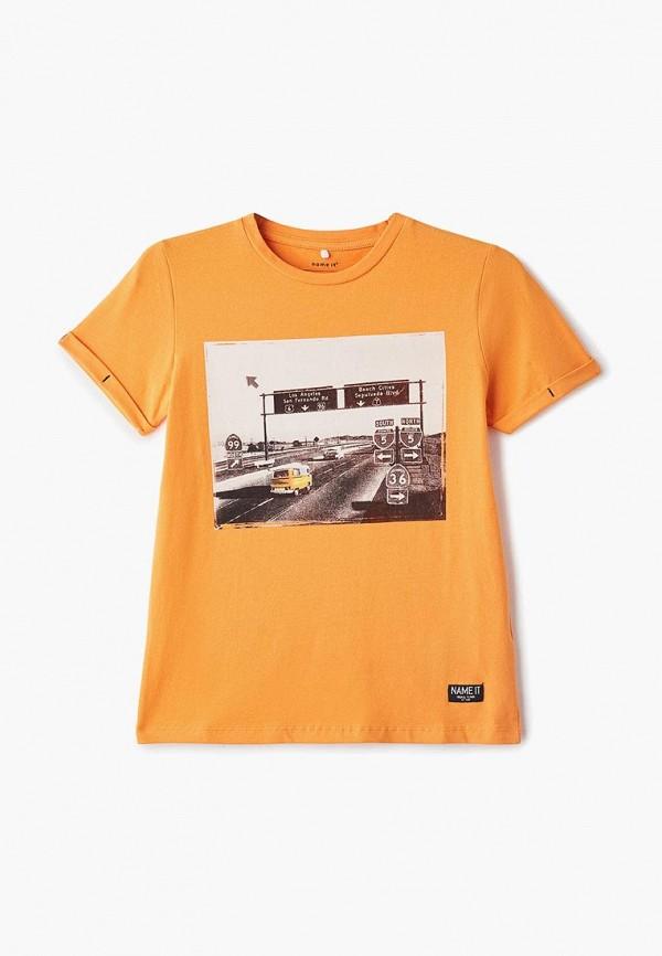 футболка с коротким рукавом name it для мальчика, оранжевая