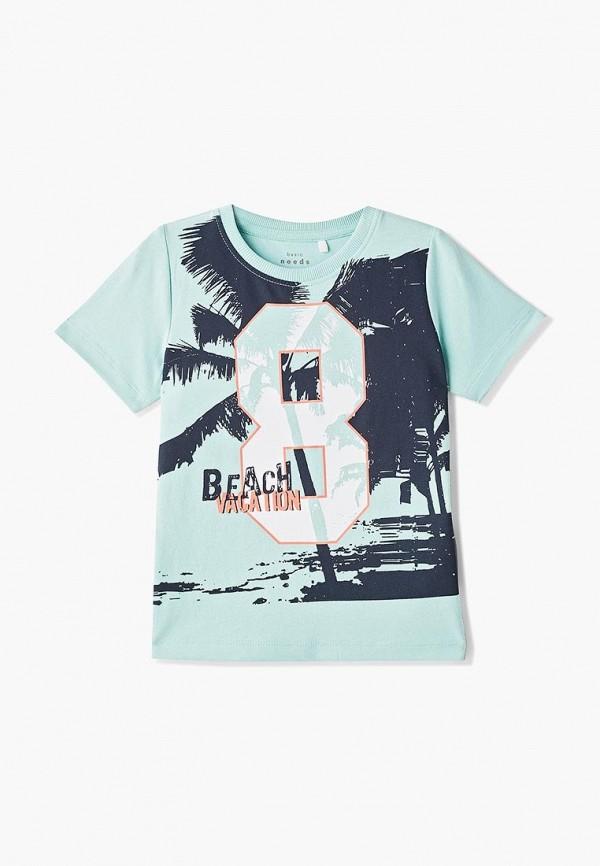 футболка с коротким рукавом name it для мальчика, бирюзовая