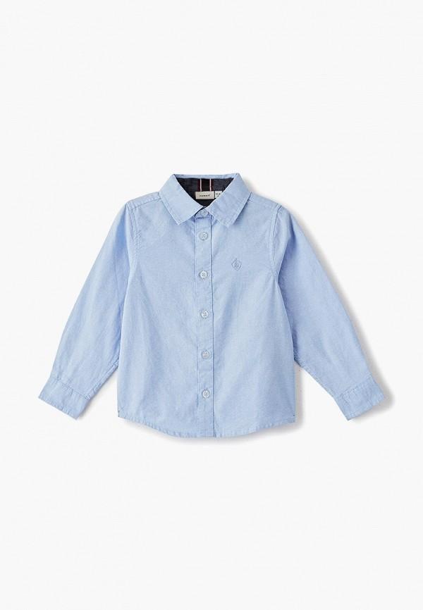 рубашка name it для мальчика, голубая
