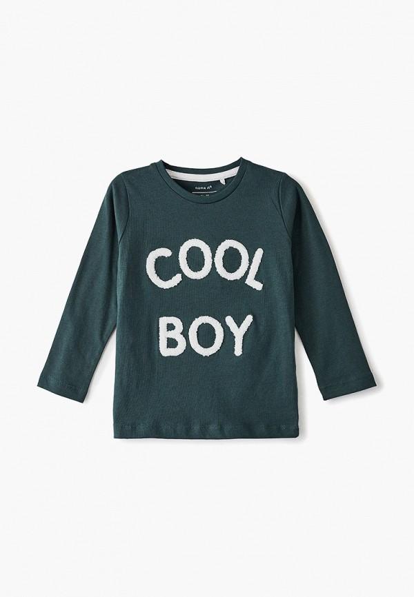 лонгслив name it для мальчика, зеленый