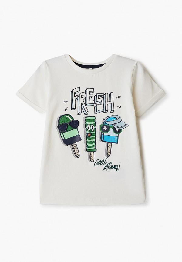 футболка с коротким рукавом name it для мальчика, белая