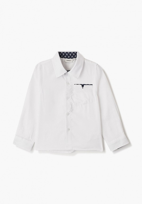 рубашка name it для мальчика, белая