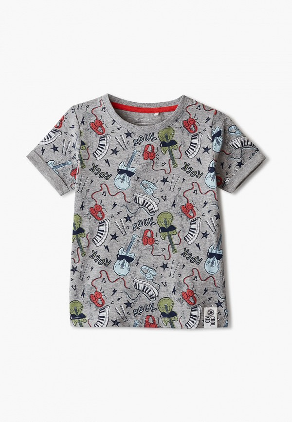 футболка с коротким рукавом name it для мальчика, серая