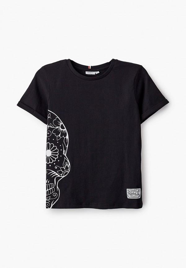 футболка с коротким рукавом name it для мальчика, черная