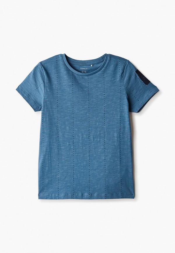 футболка с коротким рукавом name it для мальчика, синяя