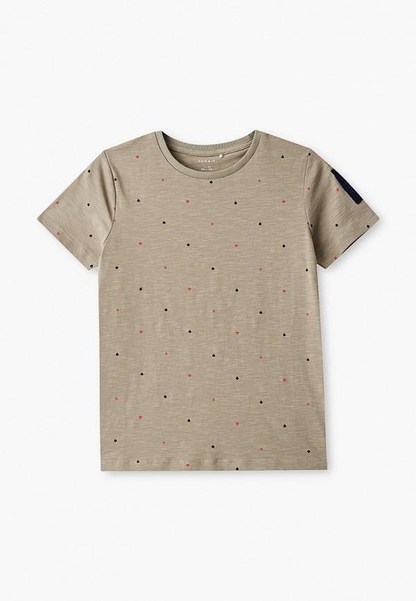 футболка с коротким рукавом name it для мальчика, хаки