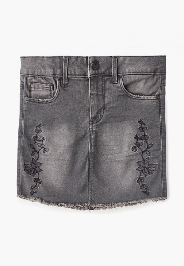 джинсовые юбка name it для девочки, серая