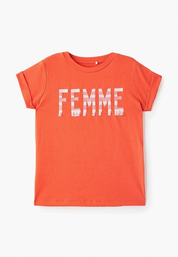 футболка с коротким рукавом name it для девочки, оранжевая