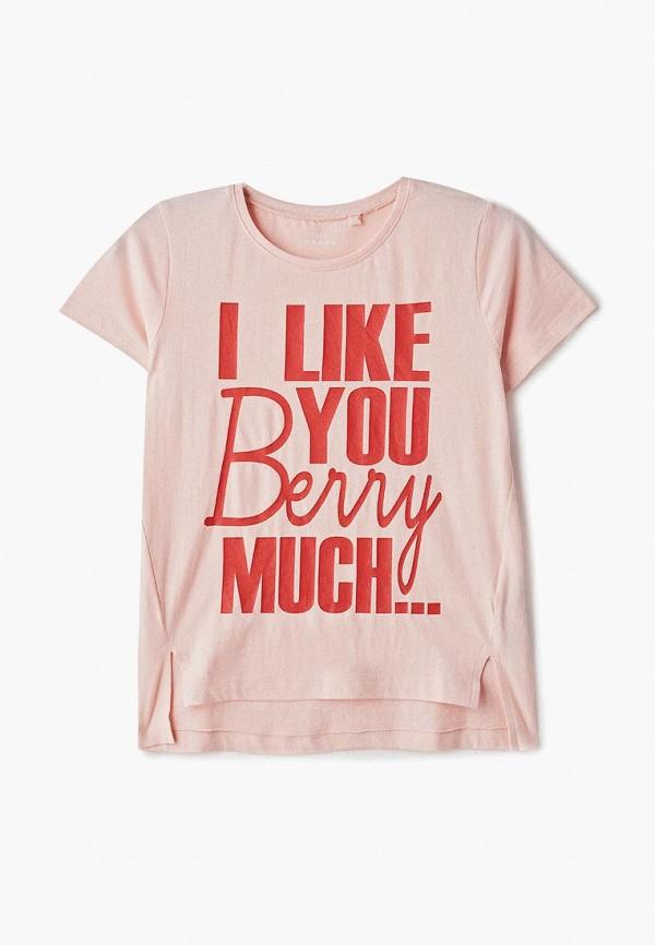 футболка с коротким рукавом name it для девочки, розовая