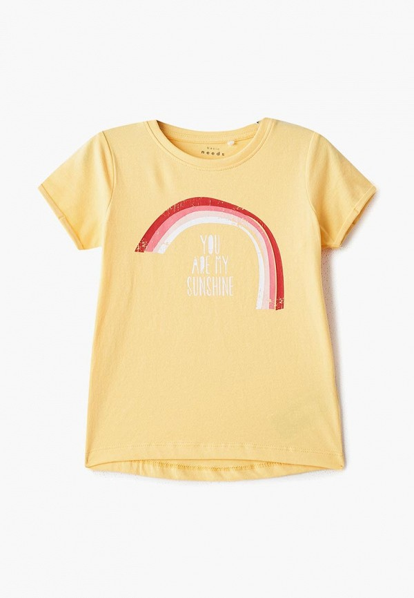 футболка с коротким рукавом name it для девочки, желтая
