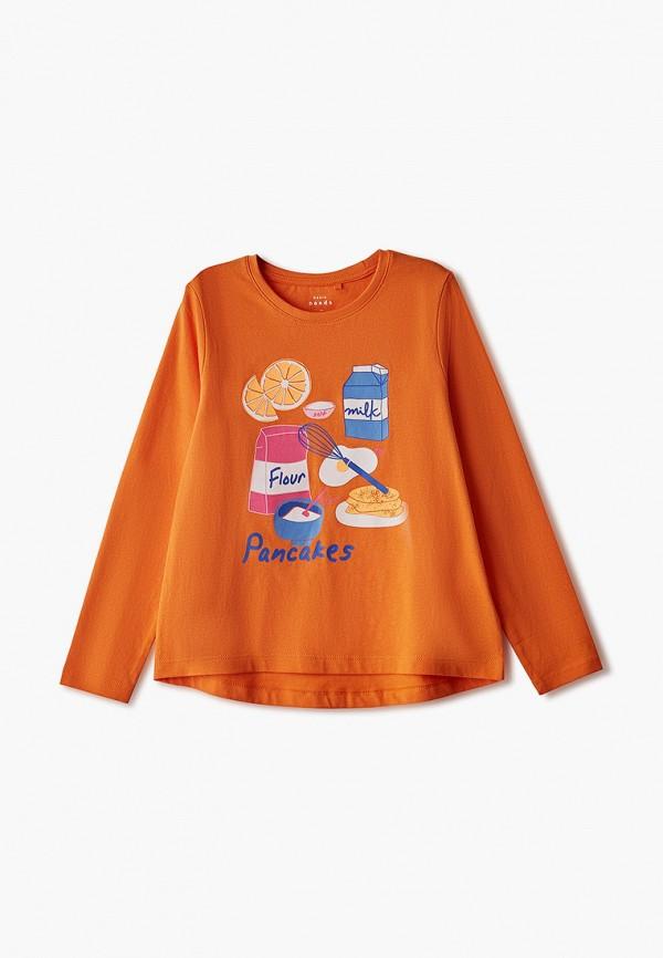 лонгслив name it для девочки, оранжевый