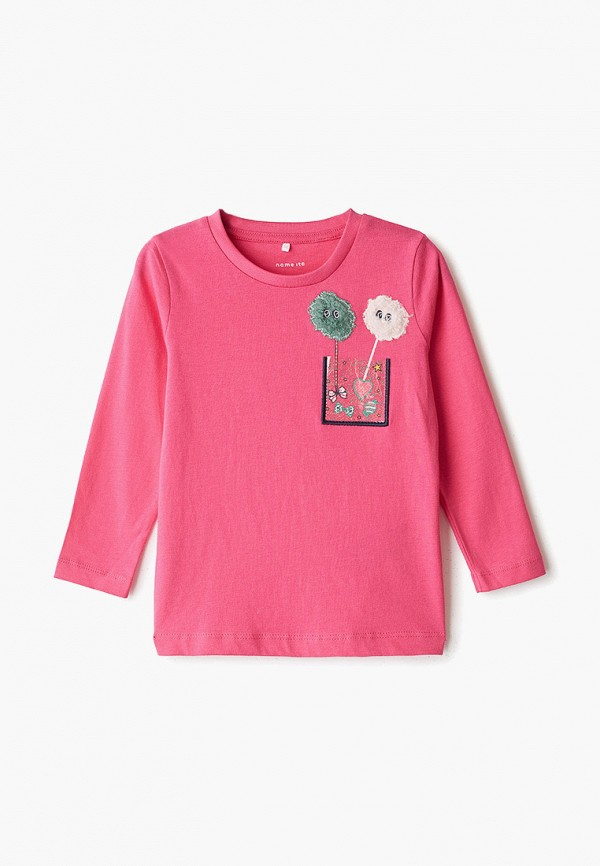 лонгслив name it для девочки, розовый
